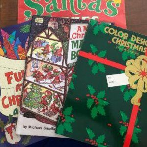 VINTAGE CHRISTMAS COLORING BOOKS 4